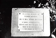 Bryson memorial in thegarden of Chatswood South Uniting Church, 1980 (Picture Willoughby)