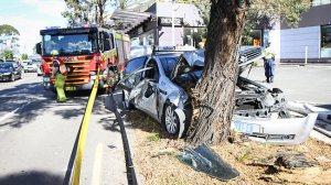 Car crash Chatswood